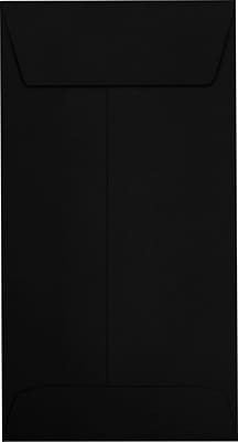 LUX #7 Coin Envelopes (3 1/2 x 6 1/2) 250/Pack, Midnight Black (7CO-B-250)