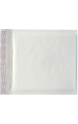 LUX CD (7 1/4 x 8) LUX Kraft Bubble Mailer 250/Pack, White Kraft (LUX-KWBM-CD-250)