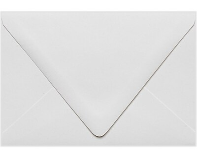 LUX A4 Contour Flap Envelopes (4 1/4 x 6 1/4) 50/Pack, White - 100% Recycled (1872-WPC-50)
