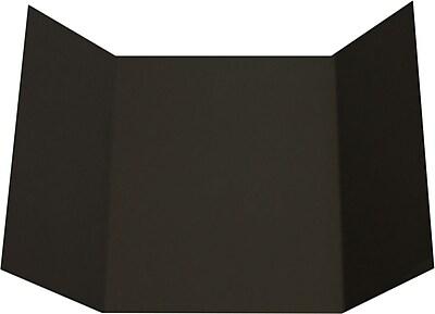 LUX A7 Gatefold Invitation (5 x 7) 100/Pack, Midnight Black (LUXA7GF-B-100)