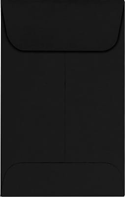 LUX #1 Coin Envelopes (2-1/4 x 3-1/2) 1000/Pack, Midnight Black (1COBLK-1000)
