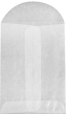 LUX 3 x 4 1/2 Open End Envelopes 1000/Pack, 30lb. Glassine (GLASS-19-1000)
