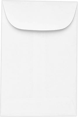LUX #6 Coin Envelopes (3 3/8 x 6) 500/Pack, 24lb. Bright White (95026-500)