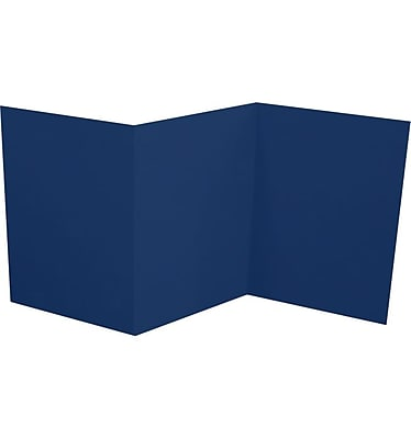 LUX A7 Z-Fold Invitation (5 x 7) 10/Pack, Navy (LUXA7ZF-103-10)