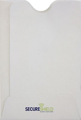 LUX RFID Blocking Credit Card Sleeve (2 3/8 x 3 1/2) 50/Pack, 32lb. White - SecureShield (PC1807PL-50)