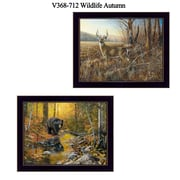 "TrendyDecor4U 14 in. x 18 in. ""Wildlife Autumn"" Collection by Jim Hansen, Printed Framed Wall Art (V368-712)"