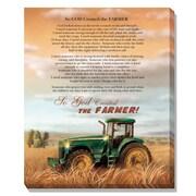"TrendyDecor4U 20 in. x 16 in. ""God Created a Farmer"" LED Light Canvas by Trendy Decor4U, Printed Wall Art (64245CG)"