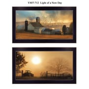 """TrendyDecor4U 11 in. x 20 in. """"Light of a New Day"""" Collection by Lori Deiter, Printed Framed Wall Art (V407-712)"""