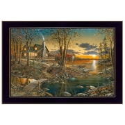 """TrendyDecor4U 14 in. x 20 in. """"Comforts of Home"""" by Jim Hansen, Printed Framed Wall Art (JH128-712)"""