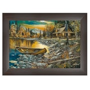 """TrendyDecor4U 11 in. x 14 in. """"High Country Retreat"""" by Jim Hansen, Printed Framed Wall Art (JH131B-636MB)"""