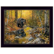"TrendyDecor4U 18 in. x 14 in. ""Last Day of Autumn"" by Jim Hansen, Printed Framed Wall Art (JH161A-712)"