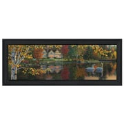 """TrendyDecor4U 11 in. x 27 in. """"Autumn Grace Panoramic"""" by Kim Norlien, Printed Framed Wall Art (NFA146A-405)"""