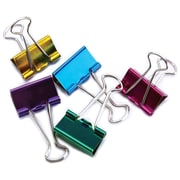 "Baumgartens Assorted Colors Medium Binder Clips 1"", 5/Pkg (29730)"