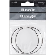 "Baumgartens Silver Book Rings, 2"", 2/Pkg (31455)"