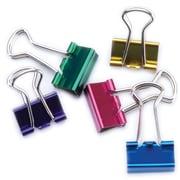 """Baumgartens Assorted Colors Mini Binder Clips, .5"""", 12/Pkg (29710)"""