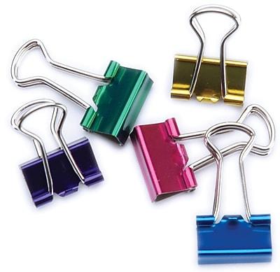 Baumgartens Assorted Colors Mini Binder Clips, .5