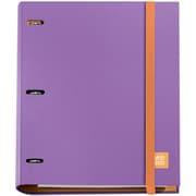 Miquel-Rius Lilac 3-Ring Refillable Binder & 100 Sheets Of Paper (147-14744)