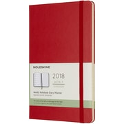 """Chronicle Books Scarlet Red Moleskine 2018 Hard Cover Weekly Planner, 5"""" x 8.25"""" (WL18-54061)"""