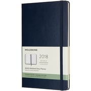 """Chronicle Books Sapphire Blue Moleskine 2018 Hard Cover Weekly Planner, 5"""" x 8.25"""" (WL18-55716)"""
