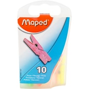Maped Helix Usa Assorted Mini Clothespin Clips, 10/Pkg (344011ZC)