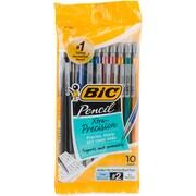 Bic Metallic Barrels Xtra Precision Mechanical Pencils, 10/Pkg (MPLMFP10)