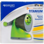 Acme Green & Gray, Antimicrobial Westcott iPoint Titanium Bonded Manual Pencil Sharpener (IP16549)