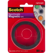 "3M Scotch Repositionable Magnetic Tape, .5"" x 4' (MT004.5)"