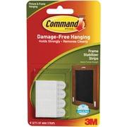 3M White Command Mini Frame Stabilizer Strips, 4 Sets/Pkg (17208)