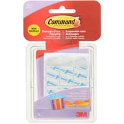 3M Command (TM) Party Small Clear Mounting Strips, 18 Strips/Pkg (17807)