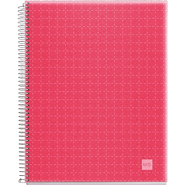 Miquel-Rius Raspberry Candy Colors Spiral-Bound Ruled Notebook, 8.5