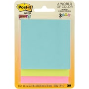 "3M Miami w/45 Sheets Post-It Super Sticky Notes, 3"" x 3"", 3/Pkg (3321SSMI)"