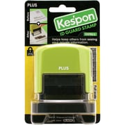 "Plus Corporation Green Kes'pon Small ID Guard Stamp, 1.5"" x .5"" (37-253)"