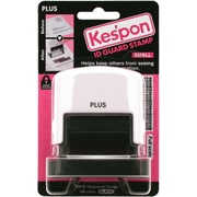 "Plus Corporation White Kes'pon Small ID Guard Stamp, 1.5"" x .5"" (37-250)"