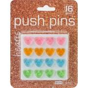 Baumgartens Hearts Push Pins, 16/Pkg (29820)