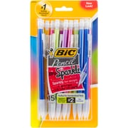 Bic Assorted Barrels Xtra Sparkle Mechanical Pencils, 15/Pkg (MPLP151)