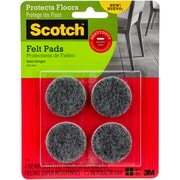 "3M Scotch Heavy Duty Felt Pads, 1.5"", 4/Pkg (SP871)"