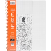 "Roaring Spring Grey Whitelines Wirebound Graph Notebook, 11"" x 8.5"" 70 Sheets (RS17001)"