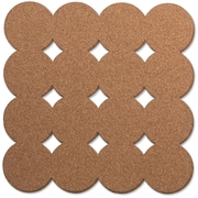 "U Brands Dot Cork Tiles, 12"" x 12"", 2/Pkg (271U0412)"