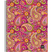 "Miquel-Rius Pink Paisley Spiral-Bound Ruled Notebook, 8.5"" x 11"" (45051)"