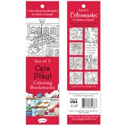 Re-marks Cats At Play Coloring Bookmarks, 5/Pkg (6814-34178)