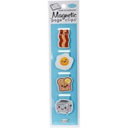 Re-marks Breakfast Magnetic Page Clip Bookmarks, 4/Pkg (42000)