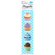 Re-marks Vanilla Cupcake Magnetic Page Clip Bookmarks, 4/Pkg (42545)