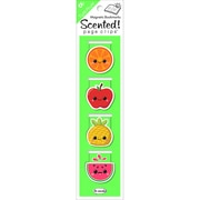 Re-marks Tutti Fruitti Scented Magnetic Page Clip Bookmarks, 4/Pkg (S02500)