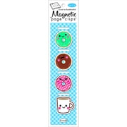 Re-marks Donuts Magnetic Page Clip Bookmarks, 4/Pkg (42100)