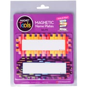 "Dowling Magnets Pixels & Dashes Magnetic Name Plates, 6"" x 2"", 16/Pkg (73521-7)"