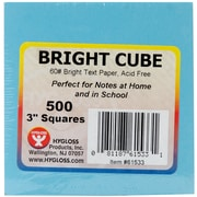 """Hygloss Assorted Bright Colors Paper Cube, 3"""" x 3"""", 500 Sheets/Pkg (61533)"""