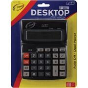 A & W Office Supplies Dual Power Desktop Calculator, 8 Digit, 7.5 inch x 5.75 inch (AW08203) by