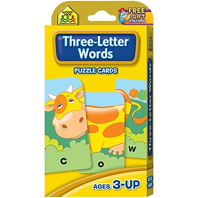 School Zone Three-Letter Words Game Cards, 54/Pkg (SZGAME-5027)