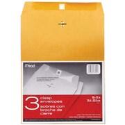 "Mead Heavy Kraft Clasp Envelopes, 10"" x 13"", 3/Pkg (76014)"