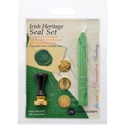 Manuscript Pen Irish Heritage w/Green Decorative 3 Coin Sealing Set w/Wax (MSH7273-IHR)